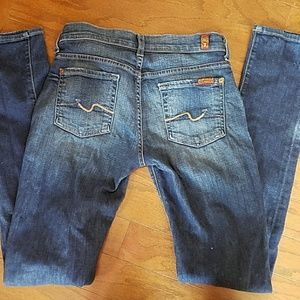 7 for all mankind roxanne jeans. Size 26. Worn.